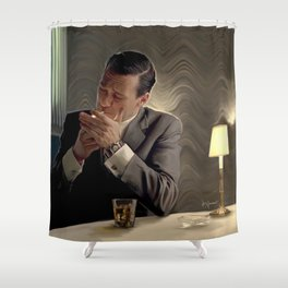 Don and a Cigarette  Shower Curtain