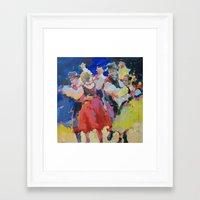 folk Framed Art Prints featuring Folk  by Renata Domagalska