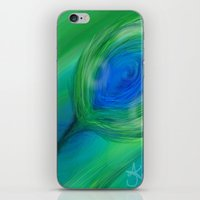peacock iPhone & iPod Skins featuring Peacock by ANoelleJay