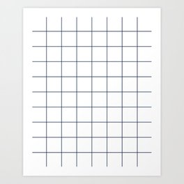 Chek - check grid simple minimal black and white modern urban brooklyn nashville hipster gifts Art Print
