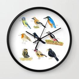Birds / Vögel Wall Clock