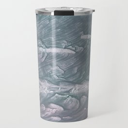 Light slate gray stained watercolor Travel Mug