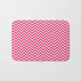 Pink Chevron Pattern Bath Mat