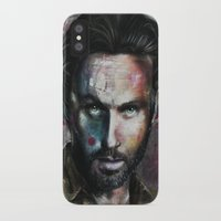 rick grimes iPhone & iPod Cases featuring Rick Grimes by Jhaiku