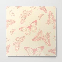 Field of Butterflies Metal Print
