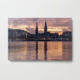 Alster Hamburg in Germany Metal Print
