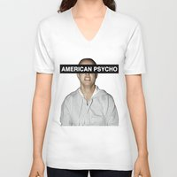 britney spears V-neck T-shirts featuring American Psycho - Britney Spears by hunnydoll