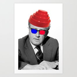 3D Kissinger Devolution Helmet Art Print