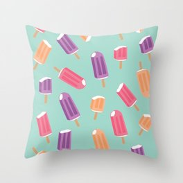 Rainbow Colorful Popsicle Pattern 2 Throw Pillow