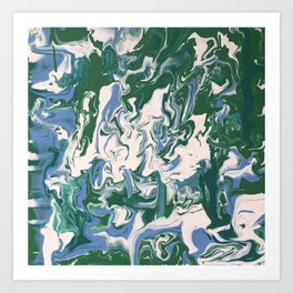 The World in a Blurr Art Print