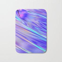 Chrome cool pattern blue purple silver Bath Mat