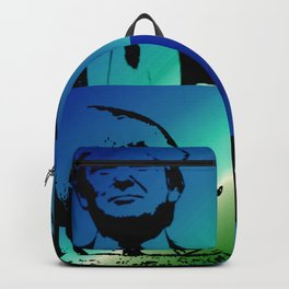Trump with Pig Blue Backpack