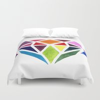diamond Duvet Covers featuring Diamond by Bridget Davidson