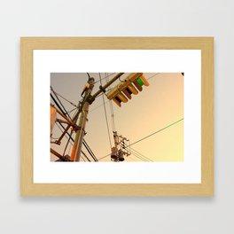 DISTANT LIGHTS Framed Art Print
