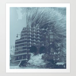 evacuate Art Print