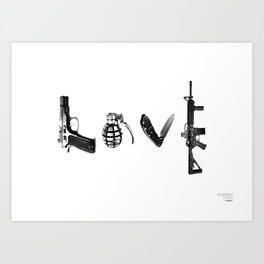 All's Fair in Love and War Art Print