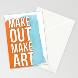 Make Out Make Art Stationery Cards