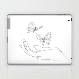 Butterflies on the Palm of the Hand Laptop & iPad Skin