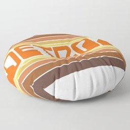 Detroit Travel Poster Floor Pillow