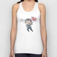 cyrilliart Tank Tops featuring 1975's #1 Fan by Cyrilliart