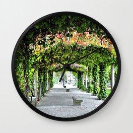 Vine Covered Walkway in Paris Wall Clock