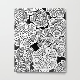 Geometric Doodle Art Metal Print
