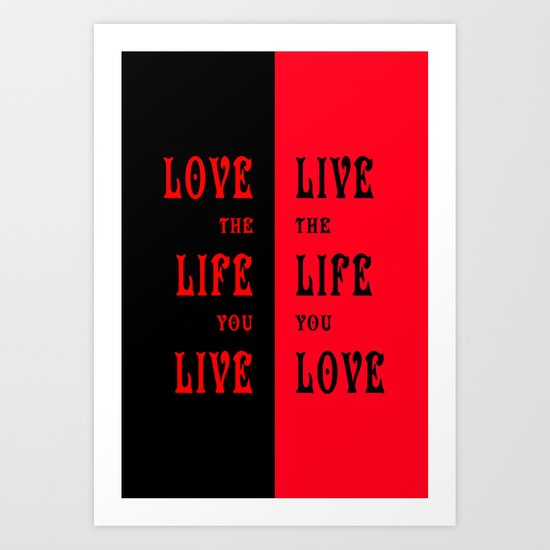 Love Life in Red Art Print