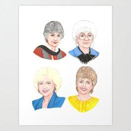 The Golden Girls Art Print