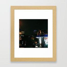 nights in new york Framed Art Print