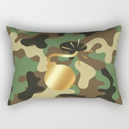 CAMO & GOLD BOMB DIGGITY Rectangular Pillow