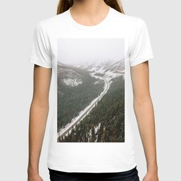 Snowy Mountain Road T-shirt