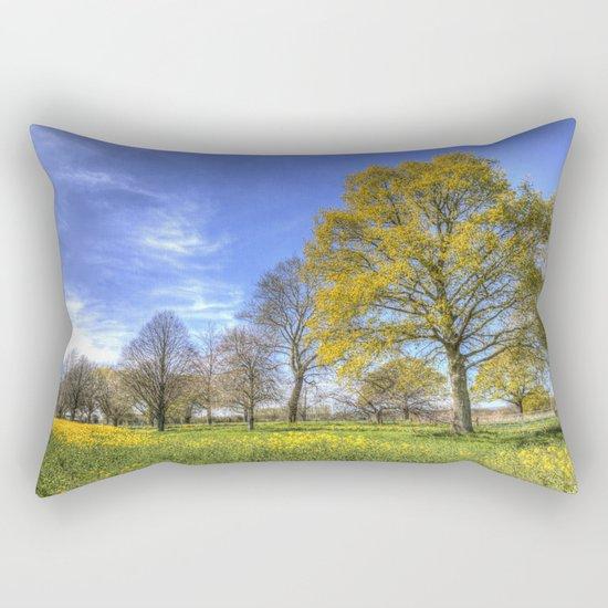 Summertime Farm England Rectangular Pillow