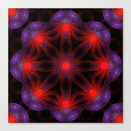 Vibrant Connections Mandala Canvas Print
