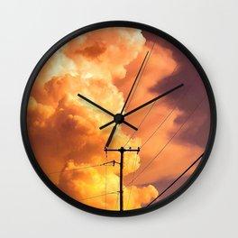 Cloud Burst Wall Clock