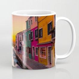 Burano Island, Venice, Italy at sunrise Coffee Mug