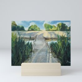 Bridge To Beach Mini Art Print