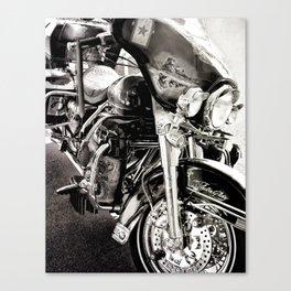 Tribute Motorcycle: Vietnam Vets Canvas Print