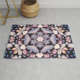 Colorful Circle of Stones Rug