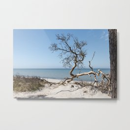 Baltic Sea Day At The Beach Travel Photography Metal Print
