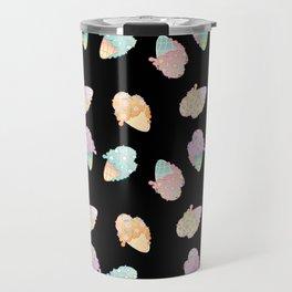 Pastel Melted Ice Cream (Black) Travel Mug