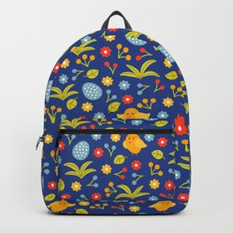 Easter Eggs and Yellow Baby Chick Pattern Backpack