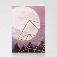 the moon Stationery Cards featuring moon by Laura Graves