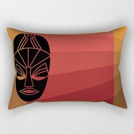 African black tribal mask design Rectangular Pillow