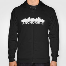 Curved Skyline Of Anchorage AK Hoody