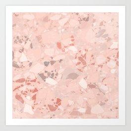 Nomade Terrazzo Texture Art Print