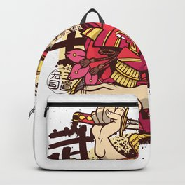 Japanese warrior red Backpack