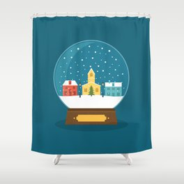 Ball Card Christmas! Shower Curtain