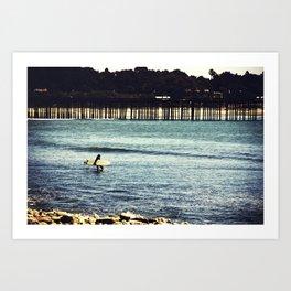 Longboard Pier Art Print
