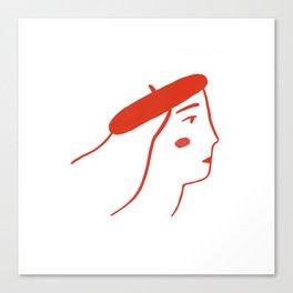 La Parisienne Canvas Print