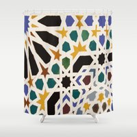 escher Shower Curtains featuring Escher Inspiration by Nancy Smith